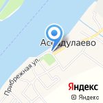 Обжорка на карте Астрахани