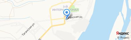 Стройизба на карте Астрахани
