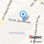 Автосервис на Данилова на карте Йошкар-Олы