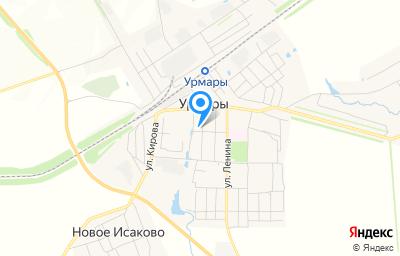 Местоположение на карте пункта техосмотра по адресу Чувашская Республика - Чувашия, пгт Урмары, ул Крупской, д 17