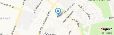 Средняя общеобразовательная школа №15 на карте Йошкар-Олы