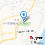 Юбилейное на карте Астрахани