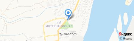 Крона на карте Астрахани