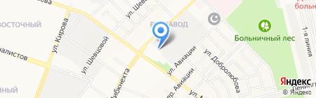 Ивушка на карте Йошкар-Олы