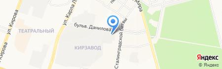 Яндау на карте Йошкар-Олы