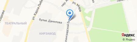 Заречье на карте Йошкар-Олы