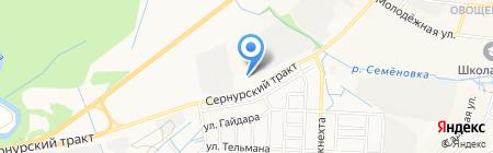 Марийская геологоразведочная партия на карте Йошкар-Олы