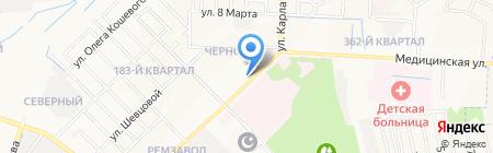 Киоск по продаже молочных продуктов на карте Йошкар-Олы