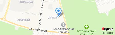 Магистр на карте Йошкар-Олы