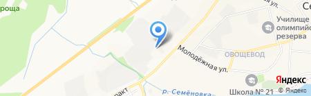 Квадро на карте Йошкар-Олы