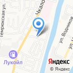 Крепыш на карте Астрахани