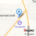 Азалия на карте Астрахани