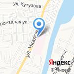 Астраханская клиническая больница на карте Астрахани