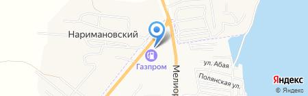 АГЗС Газпром на карте Астрахани