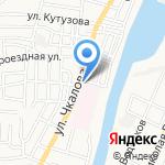 Правый берег на карте Астрахани