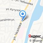 По пути на карте Астрахани