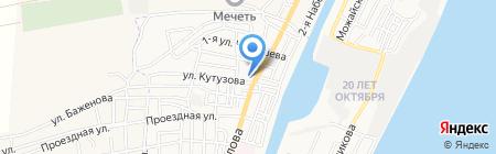 Средняя общеобразовательная школа №26 на карте Астрахани