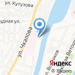 Аленушкино на карте Астрахани