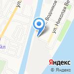 Морспасслужба Росморречфлота на карте Астрахани
