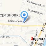 Мелия на карте Астрахани