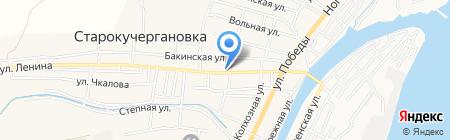 Старокучергановский сельсовет на карте Старокучергановки