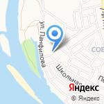 Средняя общеобразовательная школа №52 на карте Астрахани