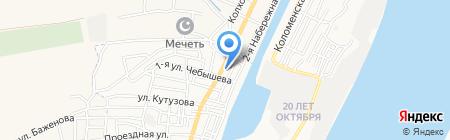 Буржуй на карте Астрахани