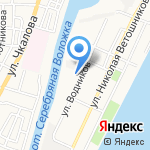 Средняя общеобразовательная школа №54 на карте Астрахани