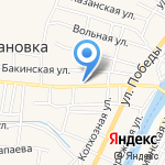 Ягуар на карте Астрахани