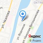 Десятка на карте Астрахани