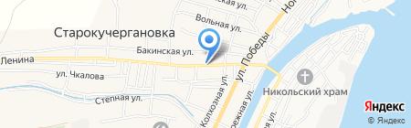 Киоск по продаже молочной продукции на карте Старокучергановки