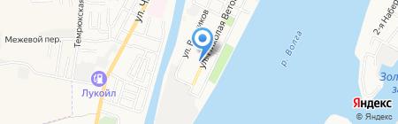 Матрица на карте Астрахани