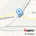 Астцемент на карте Астрахани