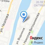 Киоск мясной продукции на карте Астрахани