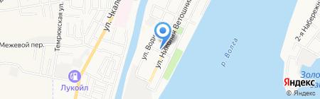 Лайм на карте Астрахани