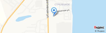 Амировский на карте Астрахани