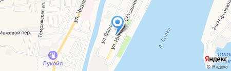 Вилант на карте Астрахани