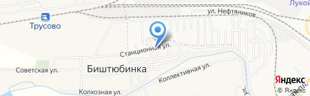 Продовольственный магазин в Тамбовском переулке на карте Биштюбинки