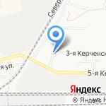 Киоск по продаже хлебобулочной продукции на карте Астрахани