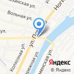 Киоск по продаже хлебобулочных изделий на карте Астрахани