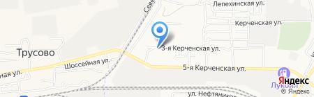 Югземстрой на карте Астрахани