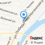 Замок на карте Астрахани