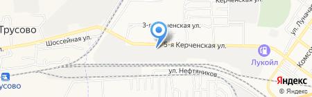 Автоцентр на Керченской на карте Астрахани