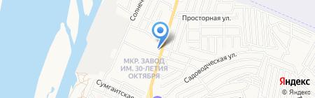 Продуктовый магазин на ул. Немова на карте Астрахани