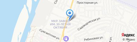Квартал Сити на карте Астрахани