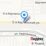 Савалан на карте Астрахани