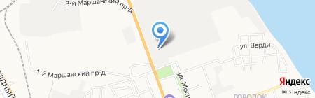 Астраханская фабрика тары и упаковки на карте Астрахани
