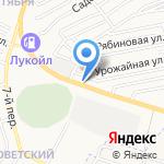 На крючке на карте Астрахани