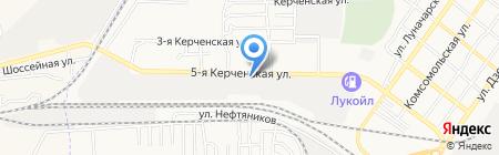Астраханская объединенная техническая школа на карте Астрахани