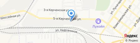 Удаль на карте Астрахани